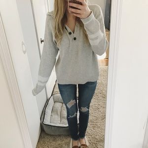 American Eagle Buttoned Pullover Hoodie